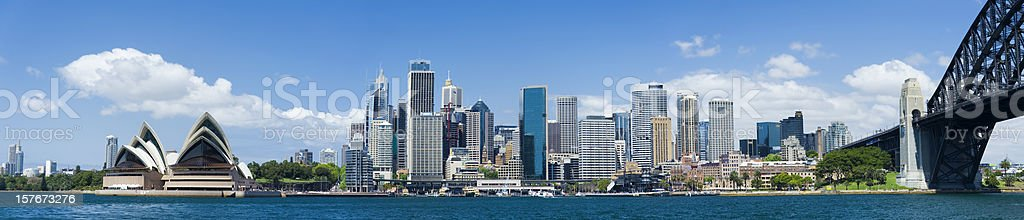 Downtown Sydney City Skyline in Australia royalty-free stock photo