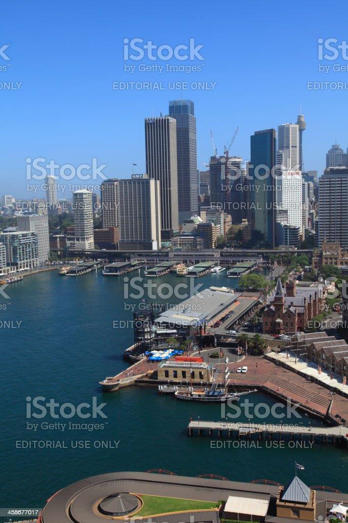 Downtown Sydney royalty-free stock photo
