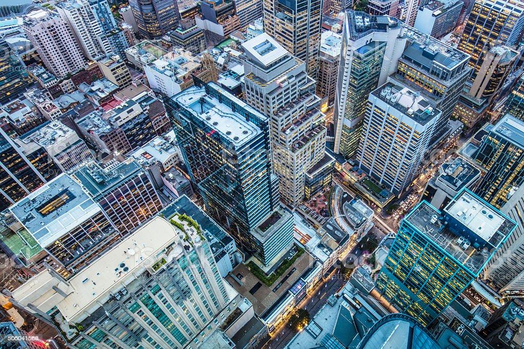Downtown Sydney stock photo