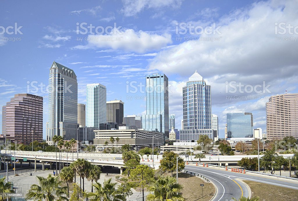 Downtown Tampa Florida skyline  stock photo