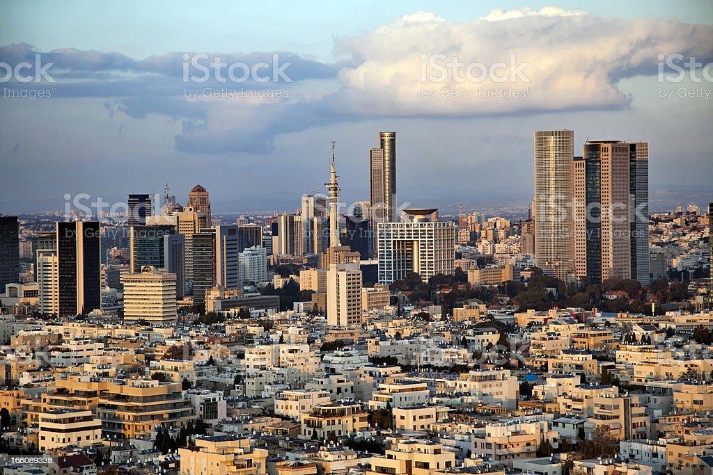Downtown Tel-Aviv Skyline royalty-free stock photo