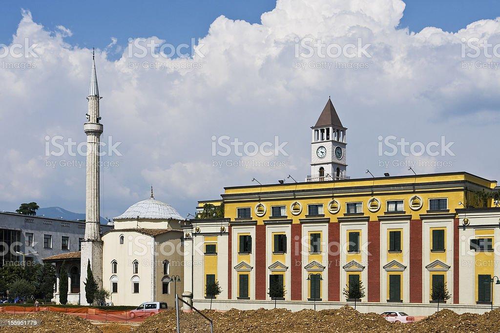 Downtown Tirana stock photo