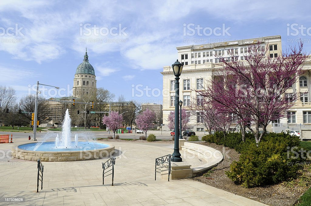 Downtown Topeka stock photo