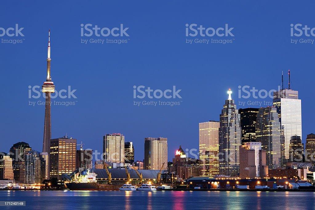 downtown toronto at 5 am stock photo