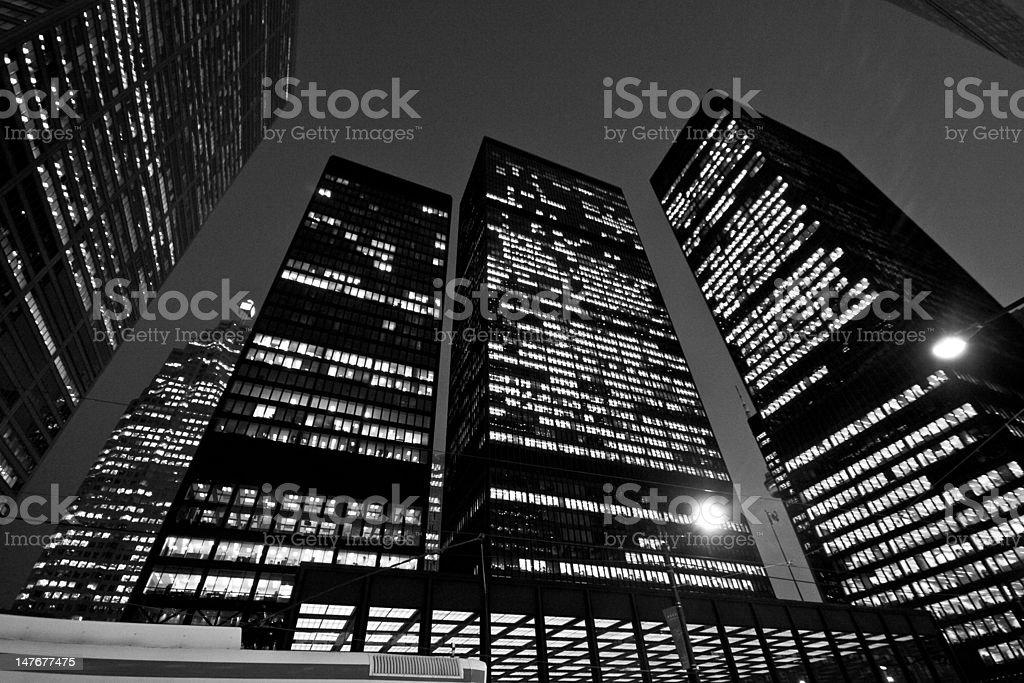 Downtown Toronto at night royalty-free stock photo