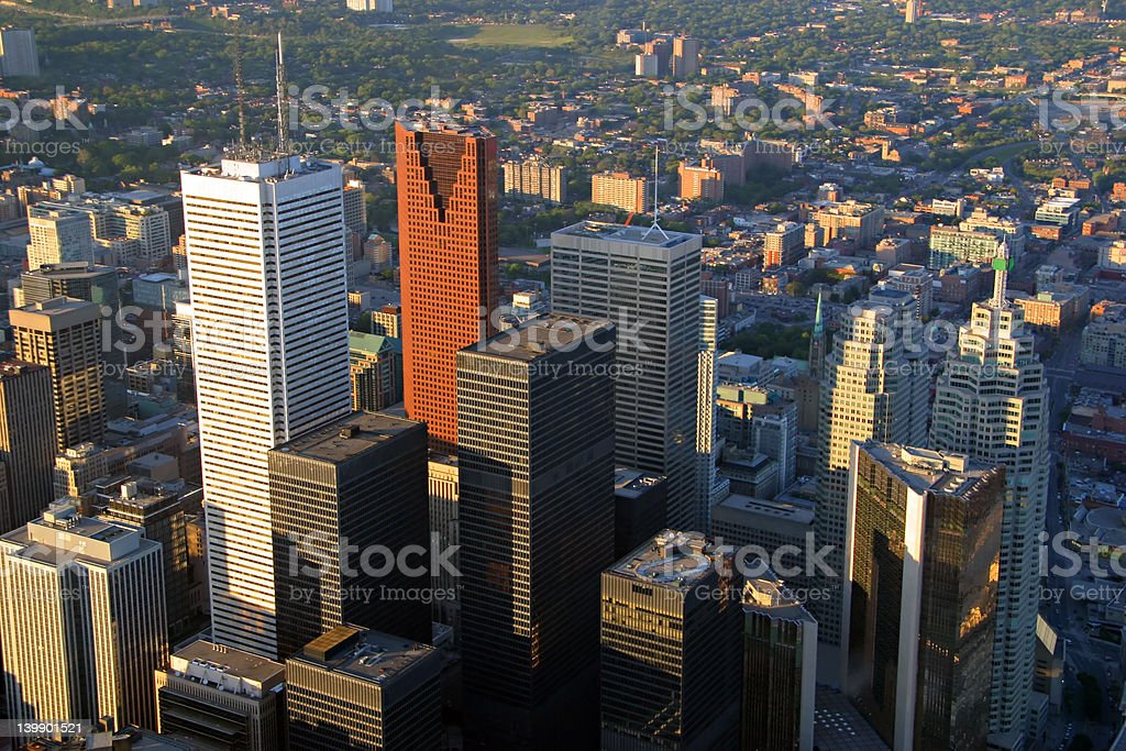 Downtown Toronto at Sunset royalty-free stock photo