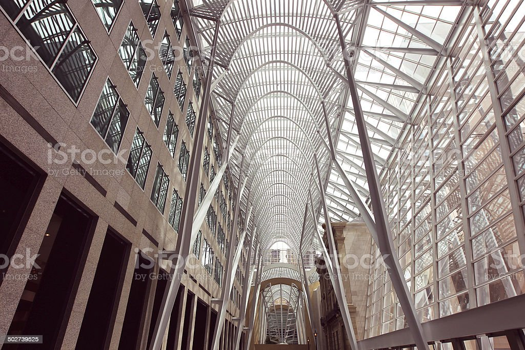 Downtown Toronto Canada Brookfield Place BCE Place office complex interior stock photo