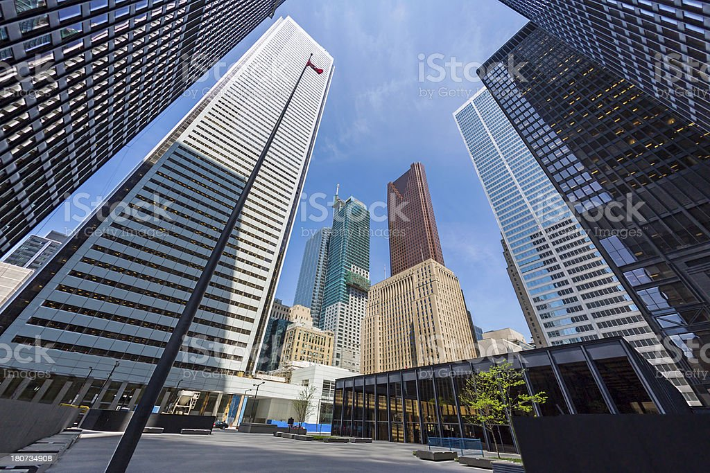 Downtown Toronto Financial District Skyscrapers stock photo
