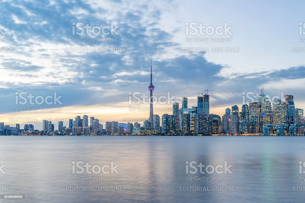 Downtown Toronto skyline and the CN Tower stock photo