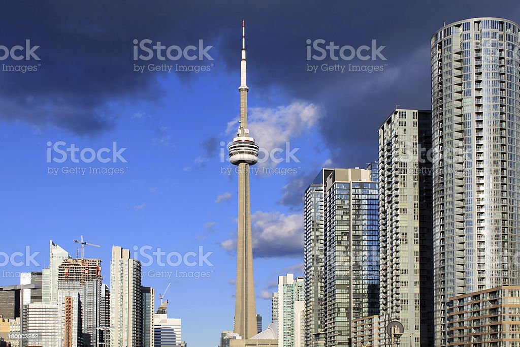 Downtown Toronto skyline royalty-free stock photo