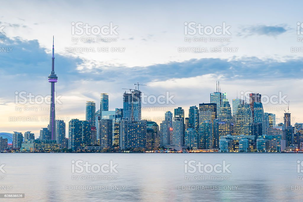 Downtown Toronto skyline stock photo