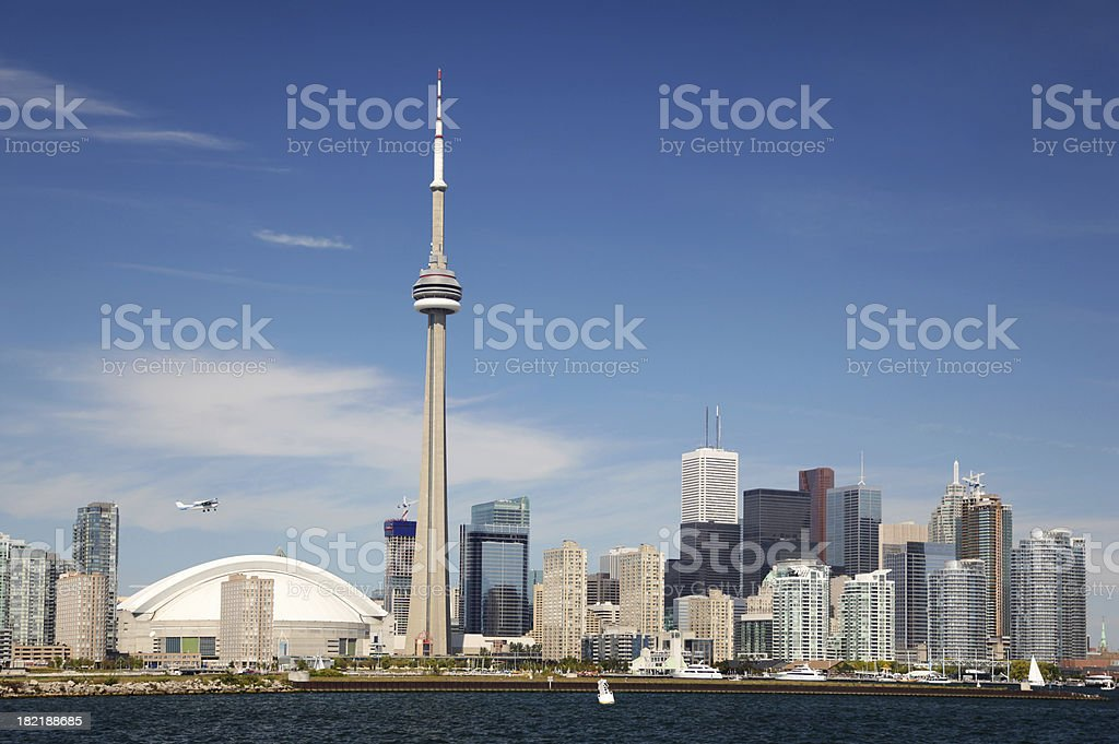 Downtown Toronto Summer Cityscape royalty-free stock photo