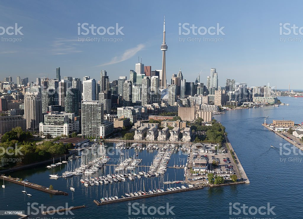Downtown Toronto Viewed from the Air stock photo