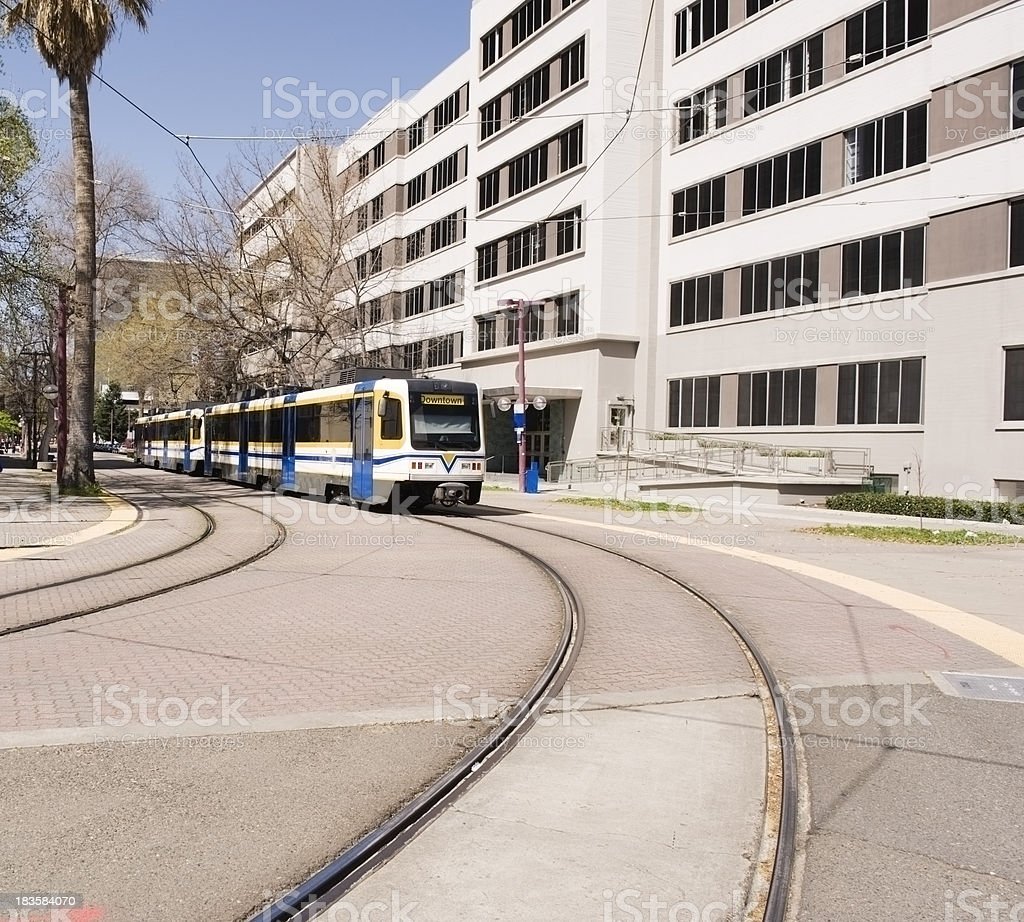 Downtown Train royalty-free stock photo