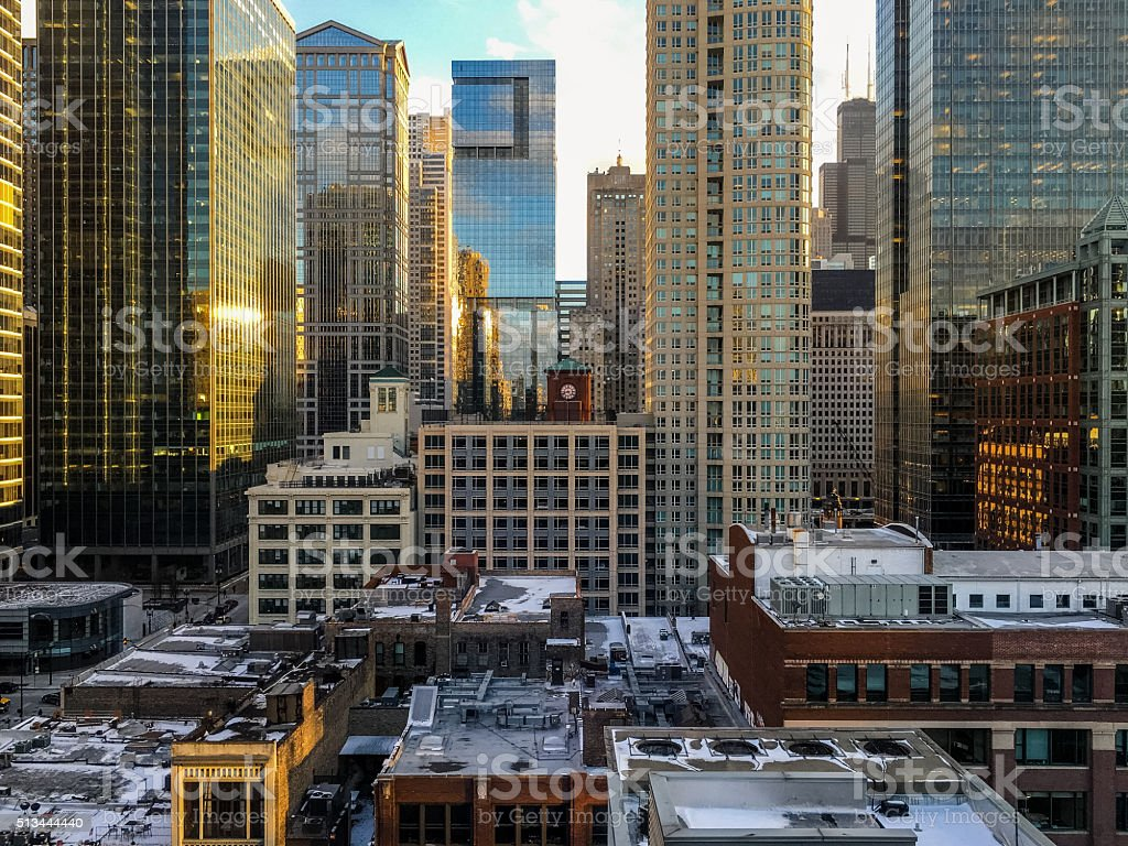 Downtown Urban Chicago Cityscape stock photo