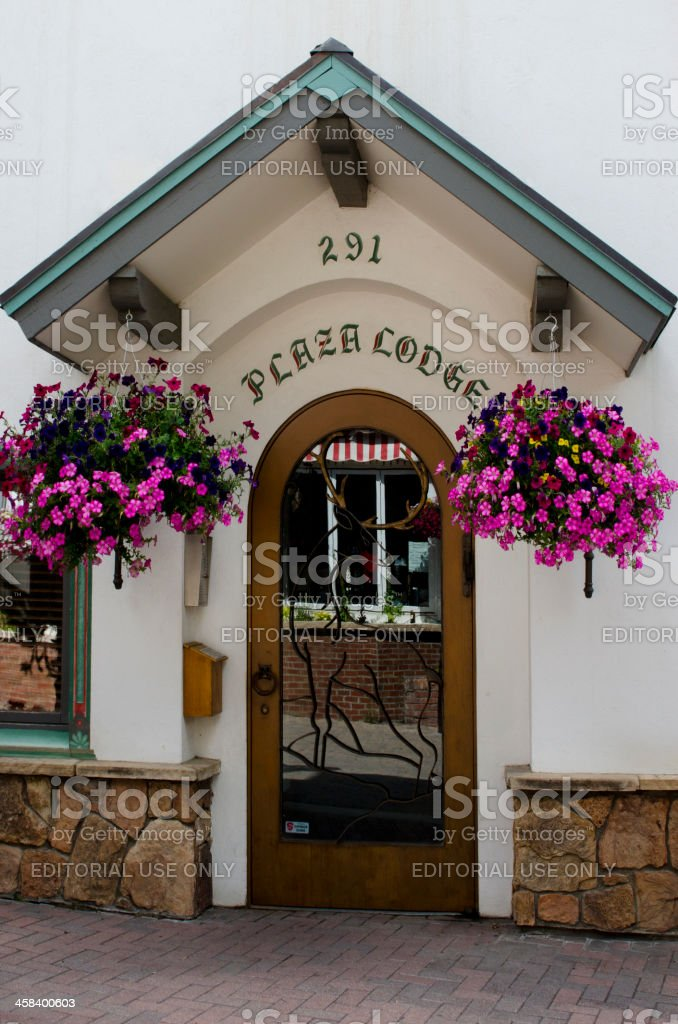 Downtown Vail Village in Summer stock photo