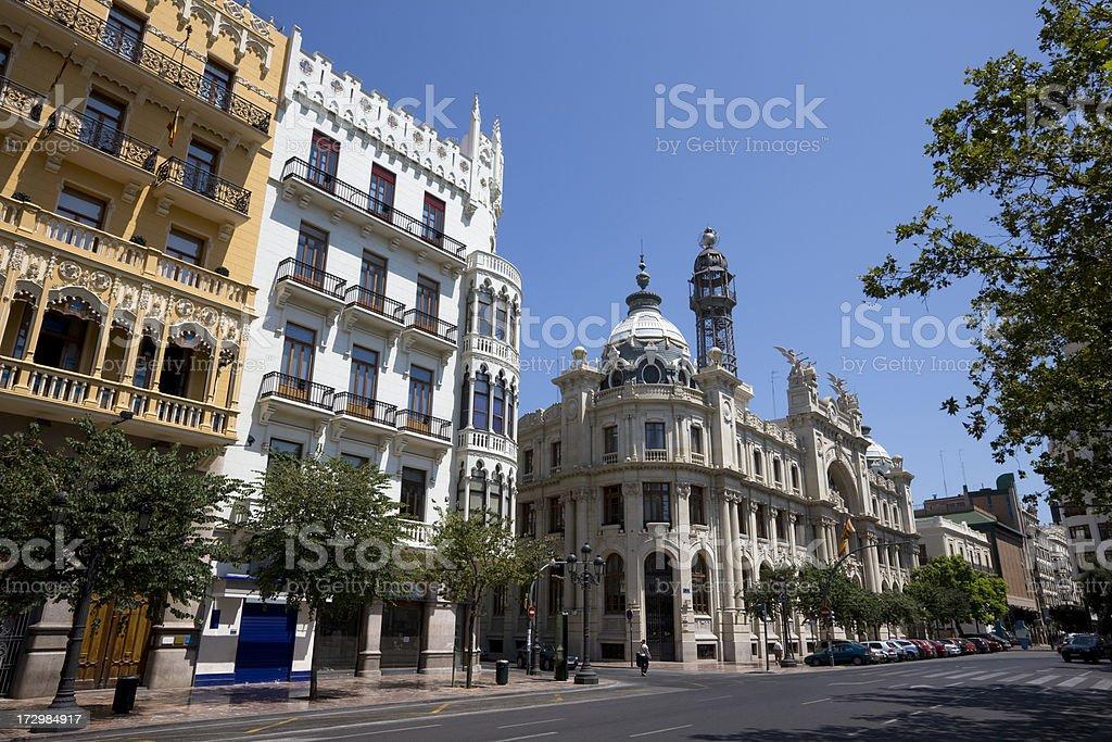 Downtown Valencia royalty-free stock photo