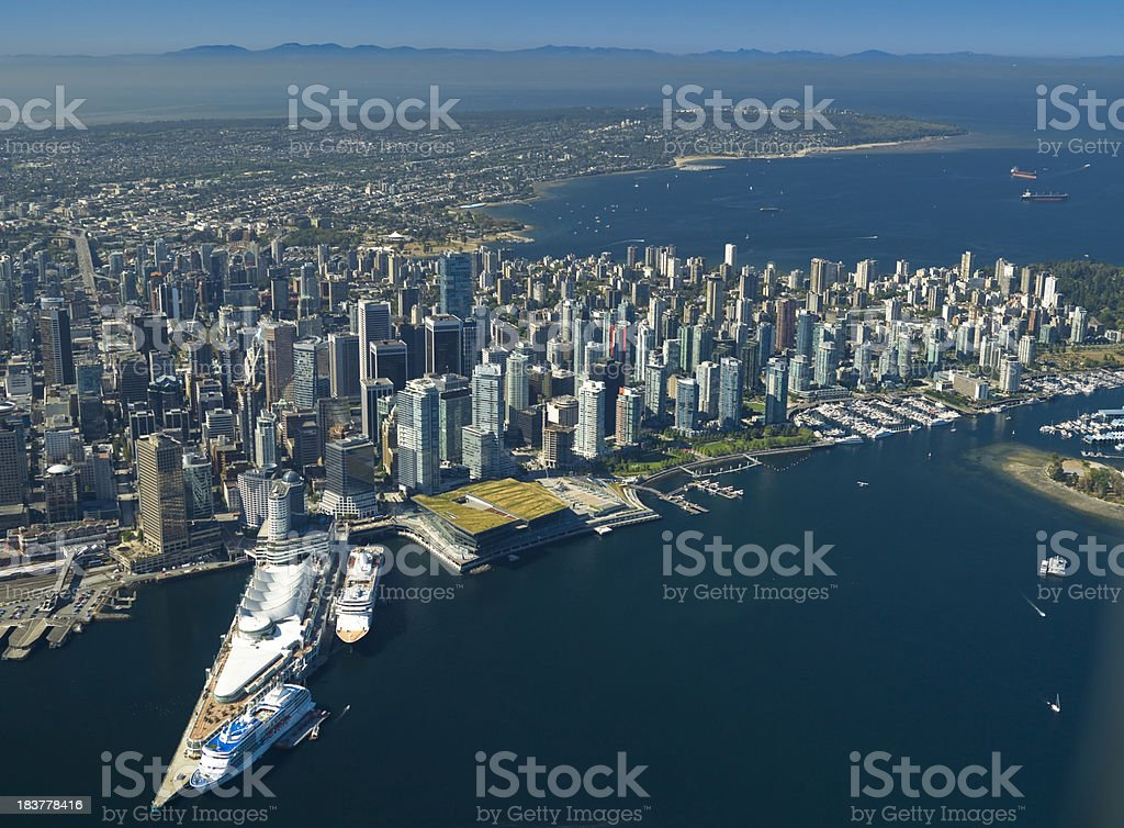Downtown Vancouver Aerial Photo royalty-free stock photo