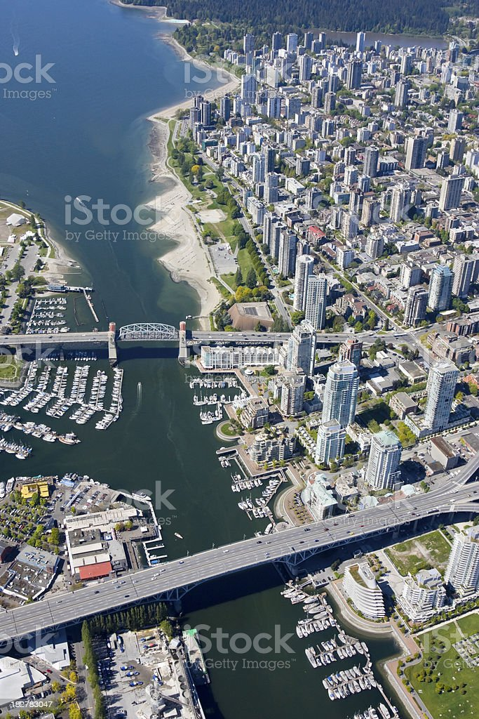 Downtown Vancouver and Granville Island stock photo