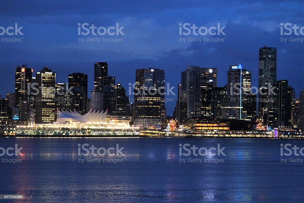 Downtown Vancouver B.C. Canada stock photo
