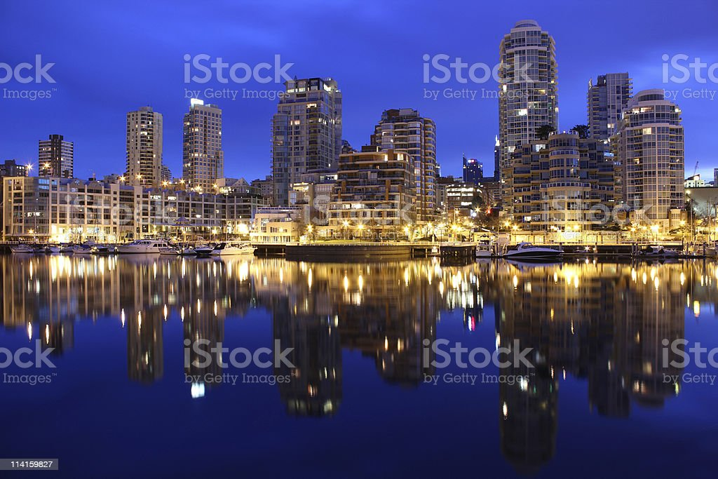 Downtown Vancouver Condos, Early Morning stock photo