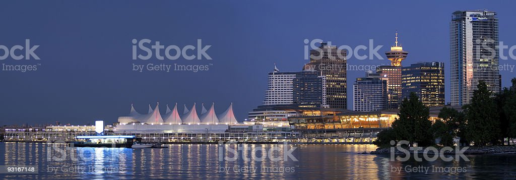 Downtown Vancouver Panorama stock photo