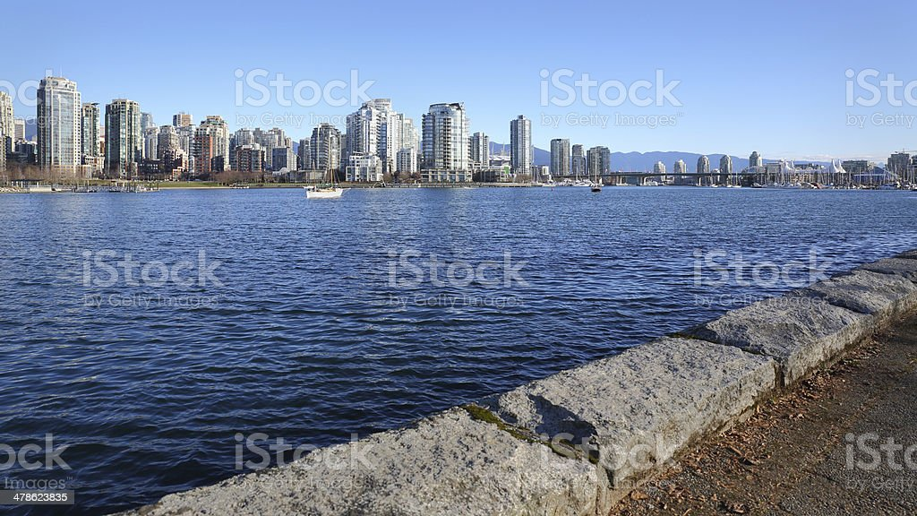Downtown Vancouver, Seawall View royalty-free stock photo