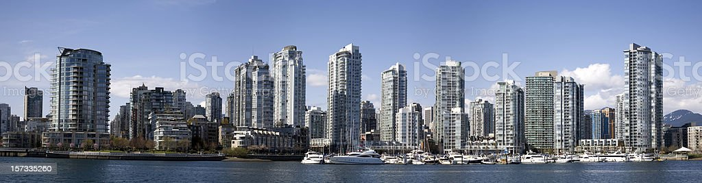 Downtown Vancouver skyline royalty-free stock photo