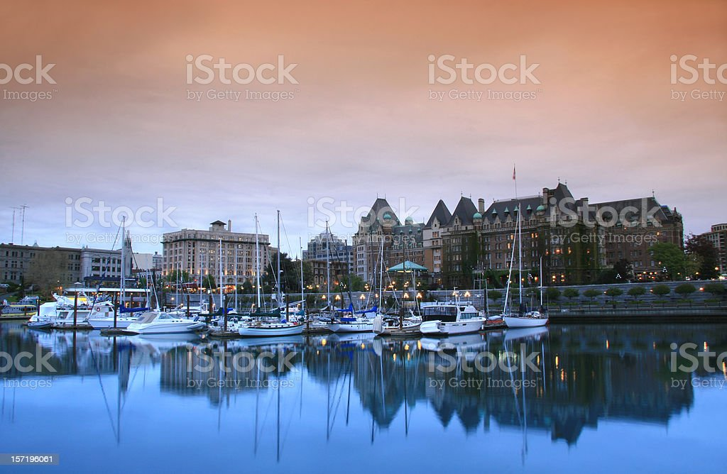 Downtown Victoria British Columbia royalty-free stock photo