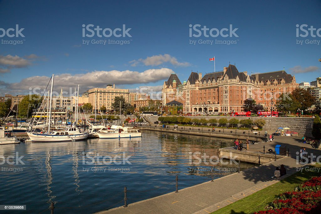 Downtown Victoria stock photo