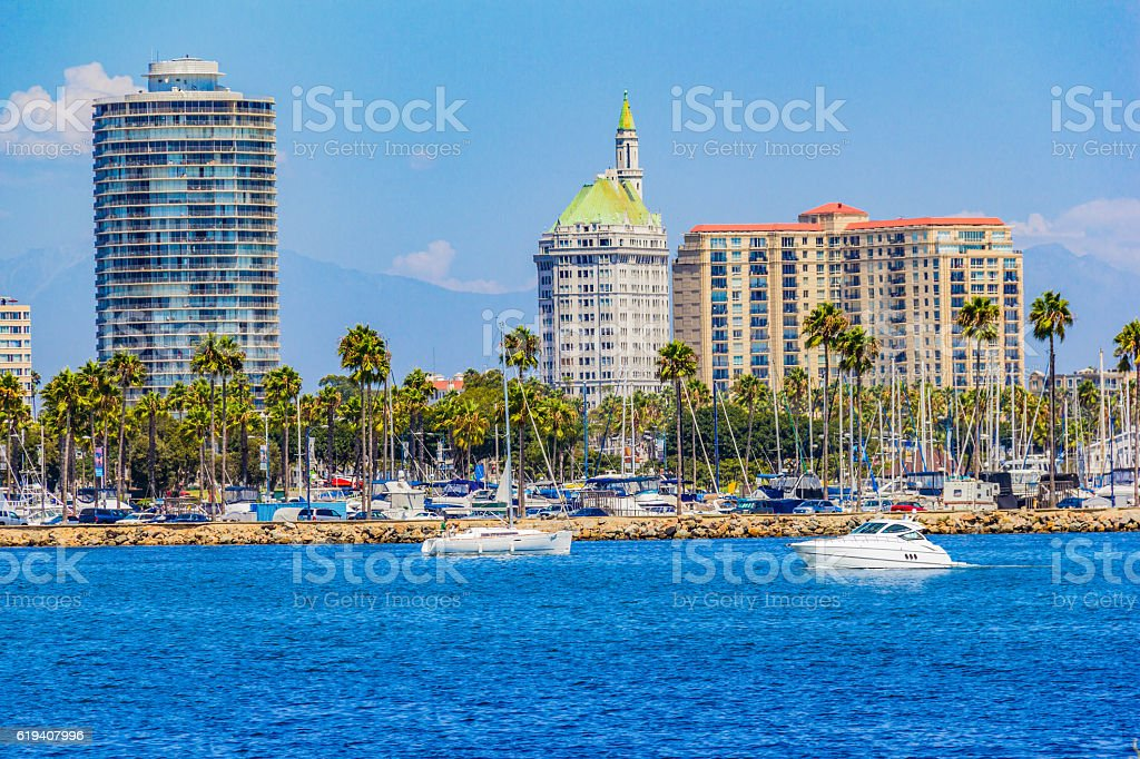 Downtown waterfront at Long Beach , CA  (P) stock photo