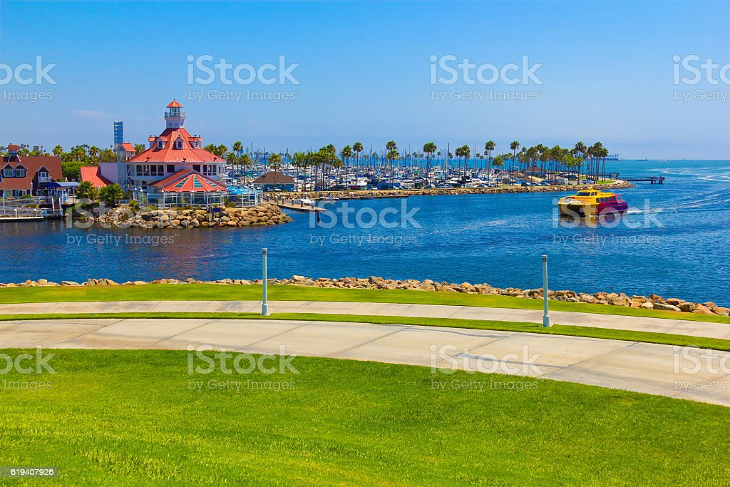 Downtown waterfront harbor at Long Beach , CA  (P) stock photo