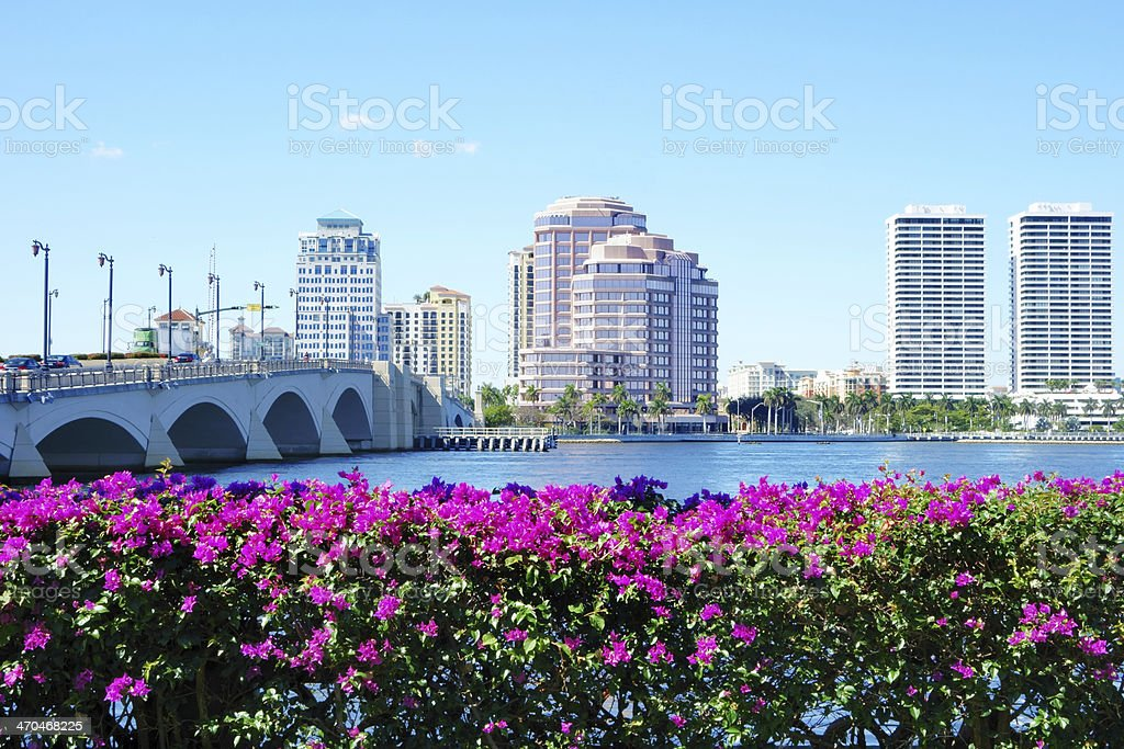 Downtown West Palm Beach stock photo