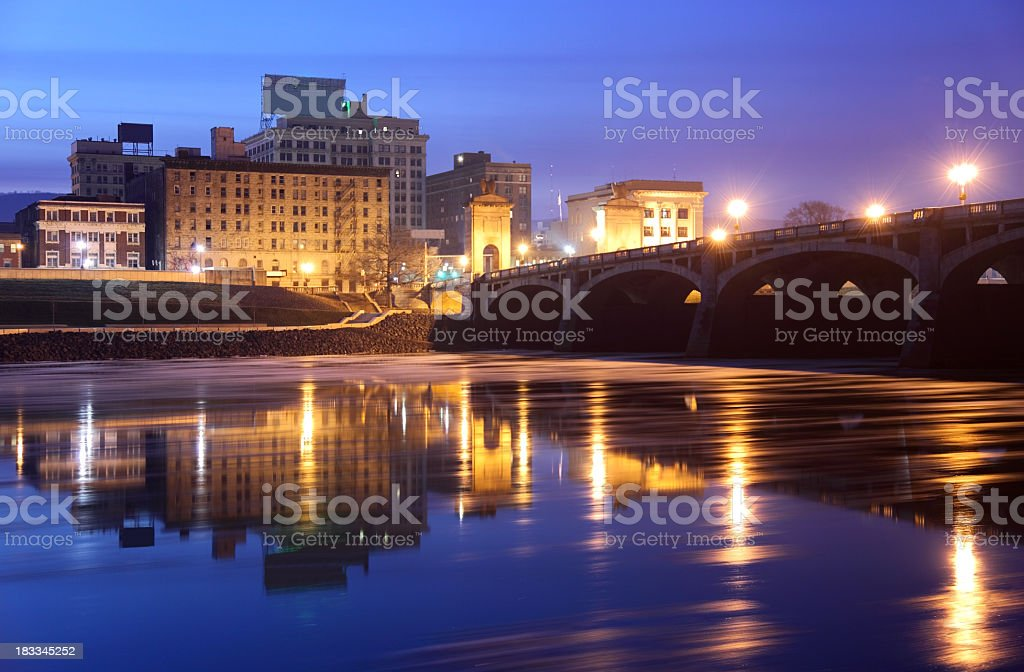Downtown Wilkes-Barre stock photo