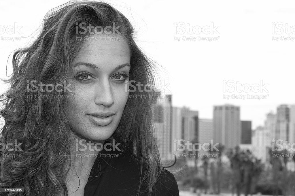 Downtown Woman stock photo