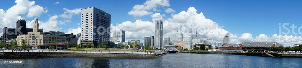 Downtown Yokohama stock photo