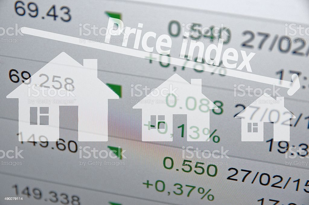 Downtrend housing market stock photo