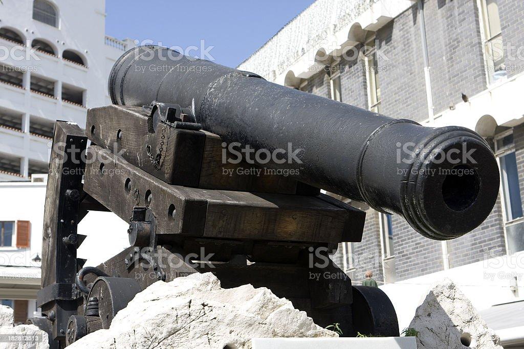 'Downward firing cannon, Gibraltar' stock photo