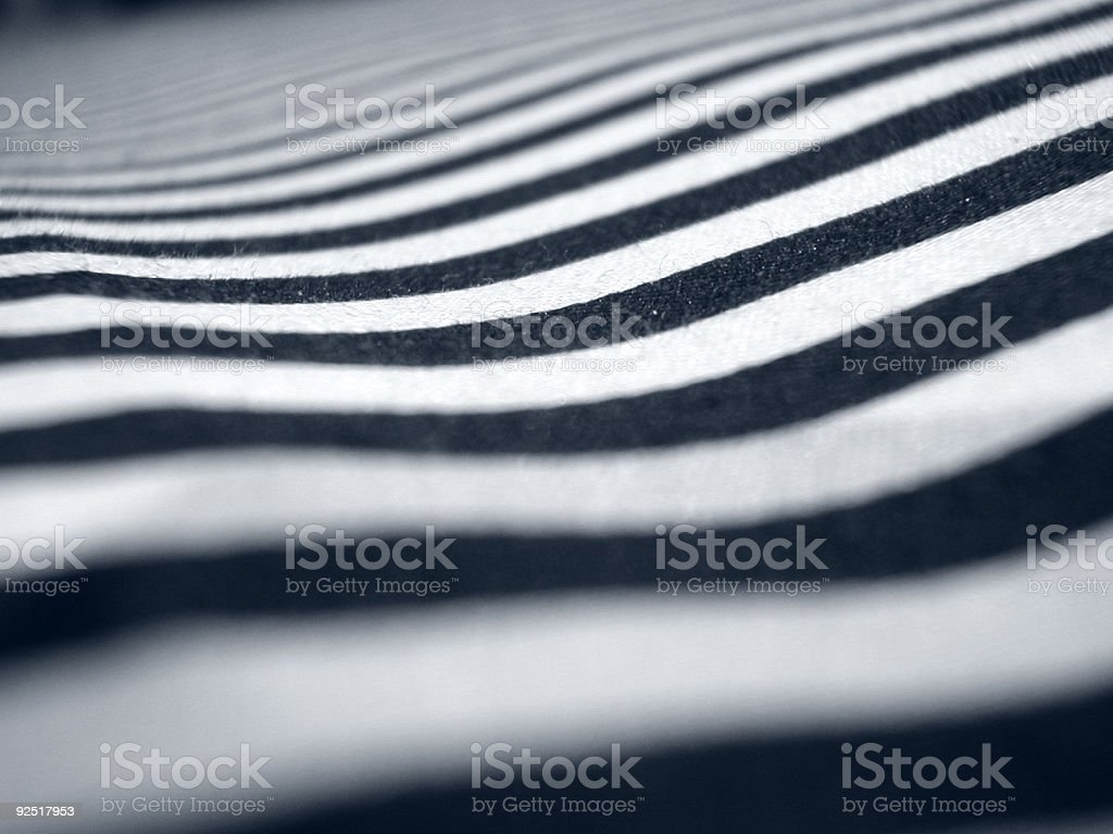 A downward photograph of black and white stripes royalty-free stock photo