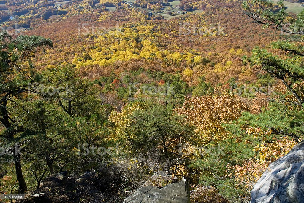 Downward View from a Mountain In North Carolina royalty-free stock photo
