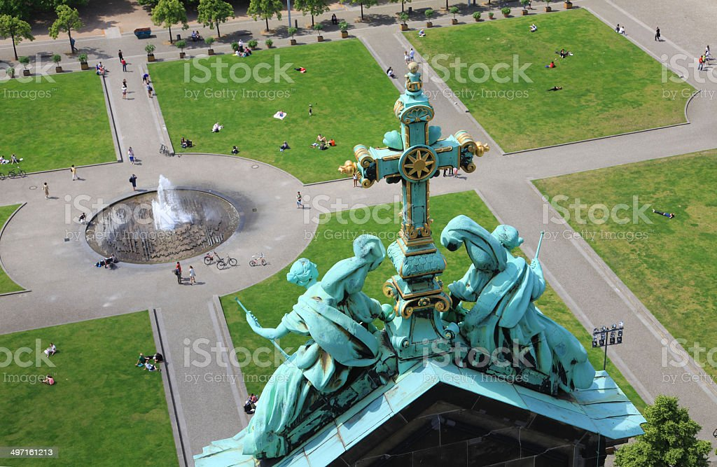 Downward View from Berlin Cathedral stock photo