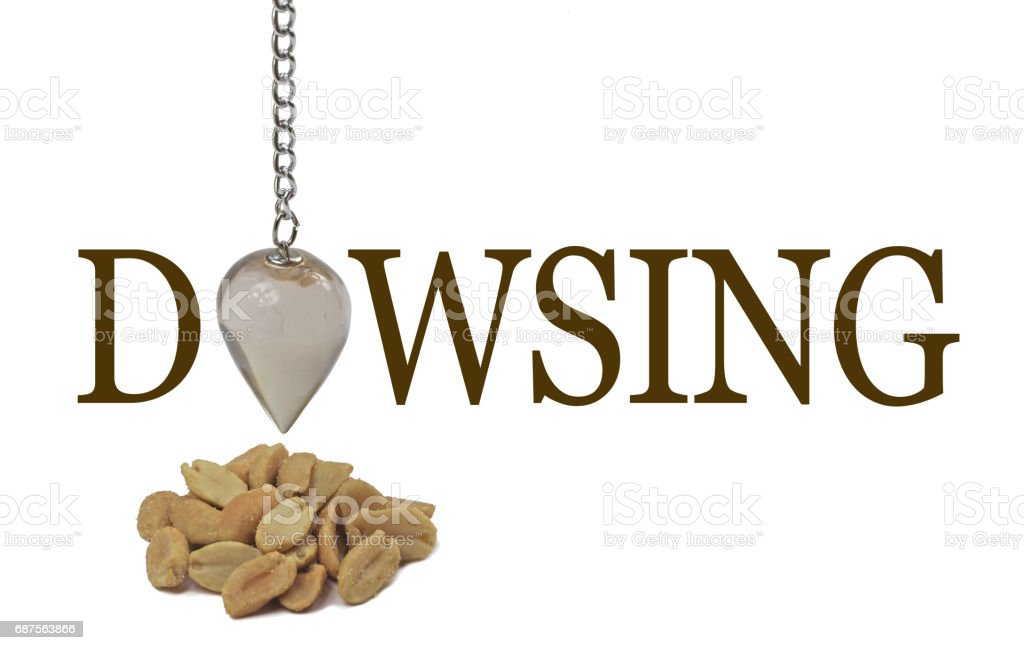Dowsing for a peanut allergy stock photo
