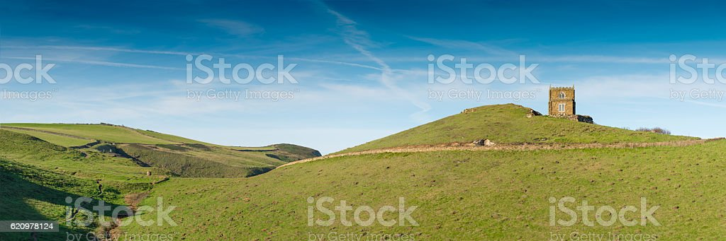Doyden Castle near Port Quin stock photo