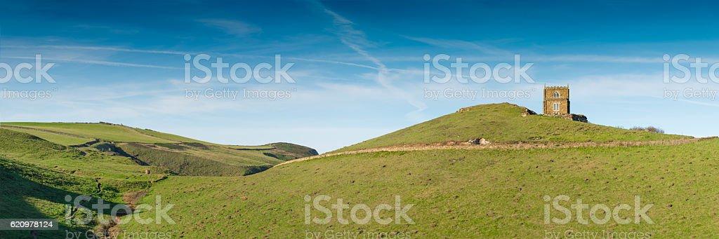 Doyden Castle near Port Quin stock photo