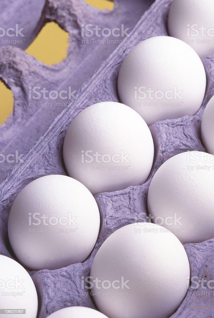 Dozen Eggs Close Up royalty-free stock photo