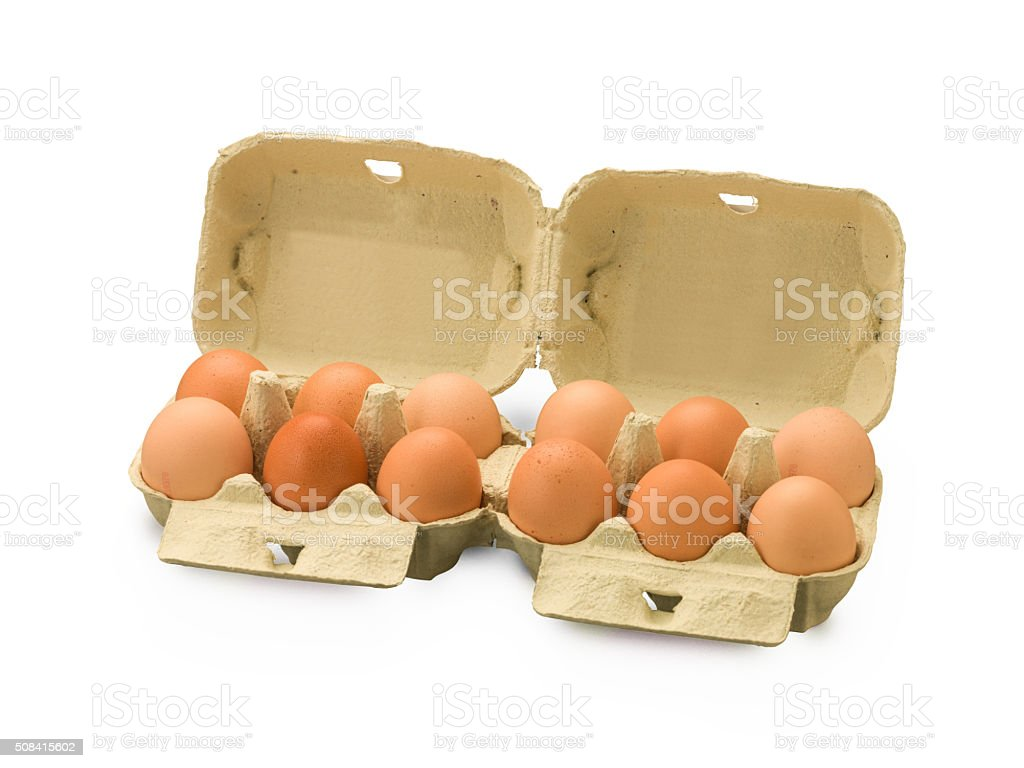 Dozen Organic Eggs stock photo