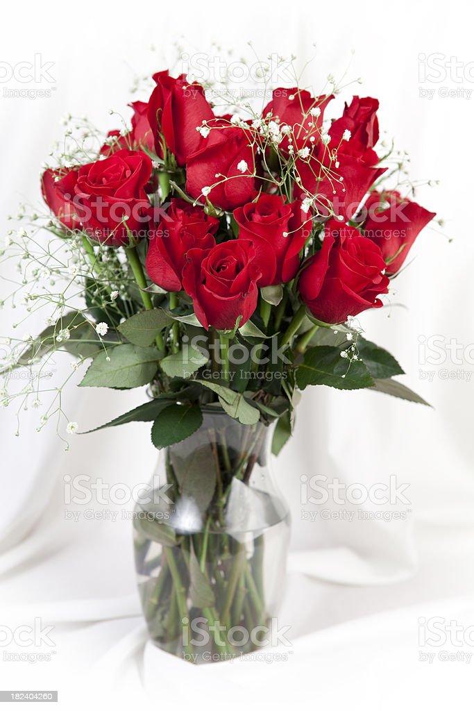 Dozen Red Roses royalty-free stock photo