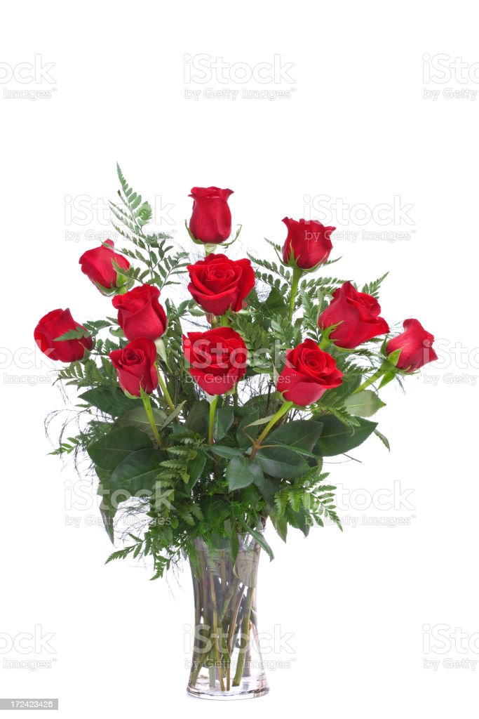 Dozen Roses (XL) stock photo