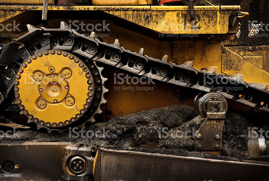 Dozer detail stock photo