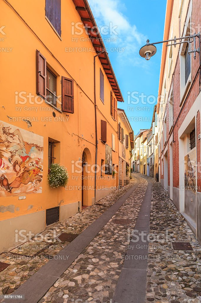Dozza, Old Town - Emilia Romagna, Italy stock photo